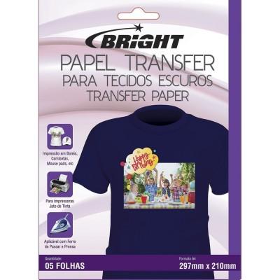 Papel Transfer Para Tecidos Escuros